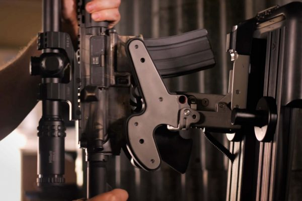 removing ar15 from 1082 gun rack mounted on freestand