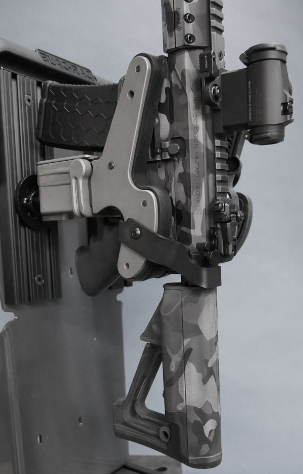 charger stop is installed on a 1082 gun rack preventing charging of ar15