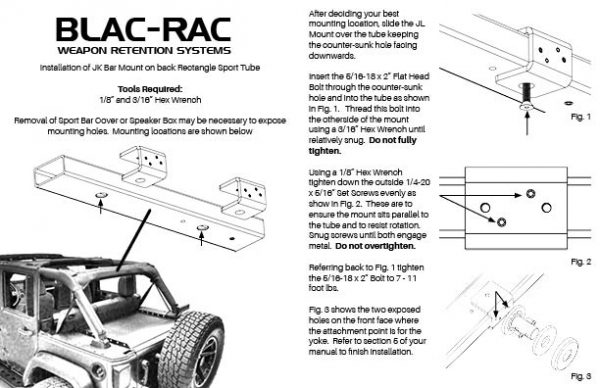 Jeep JK Bracket Instructions
